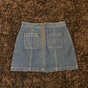 Madewell Skirts - Madewell Zip Denim Mini Skirt